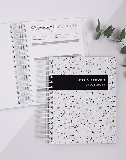 personalised: Personalised Modern Terrazzo Wedding Journal!
