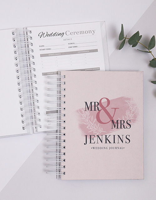 personalised: Personalised Becoming Mr And Mrs Wedding Journal!
