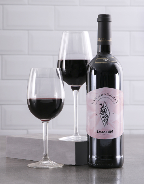 fine-alcohol: Personalised Elegant Backsberg Wine!