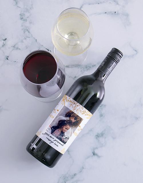 personalised: Personalised Gold Leaf Photo Wine!
