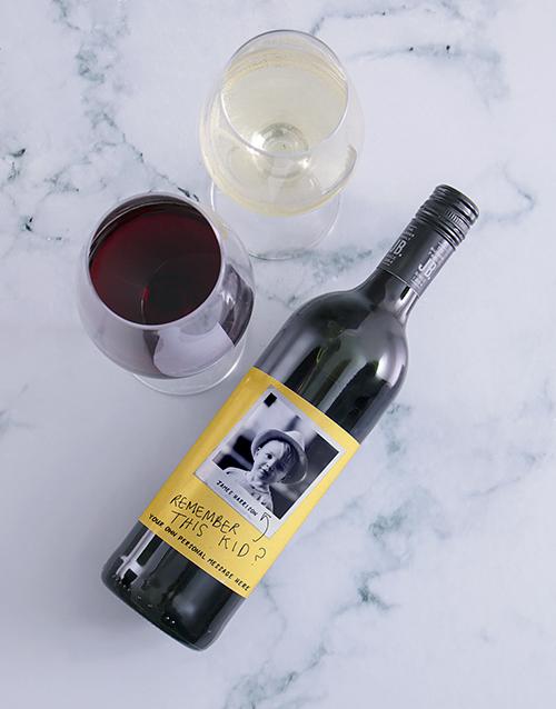 personalised: Personalised Remember This Kid Photo Wine!