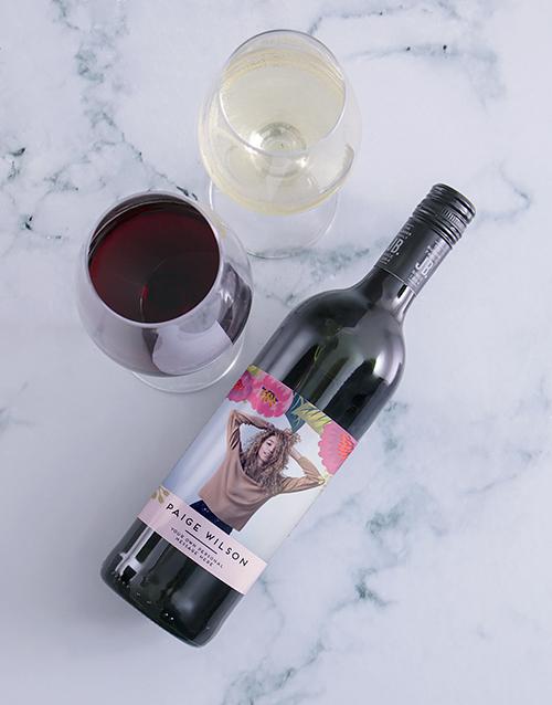 personalised: Personalised Botanic Photo Wine!