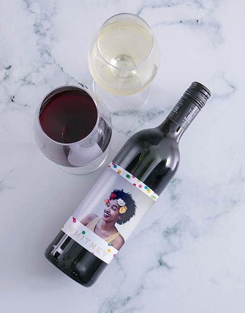 personalised: Personalised Colour And Confetti Photo Wine!
