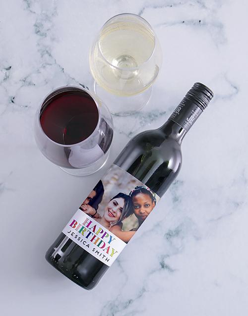 personalised: Personalised Birthday Photo Wine!