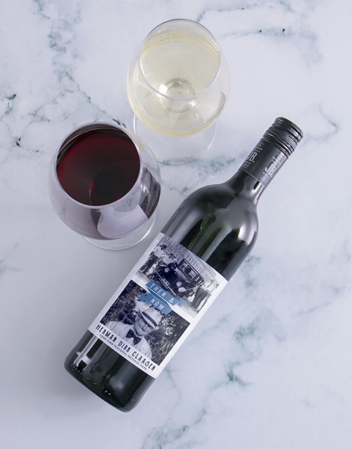 personalised: Personalised Then And Now Photo Wine!