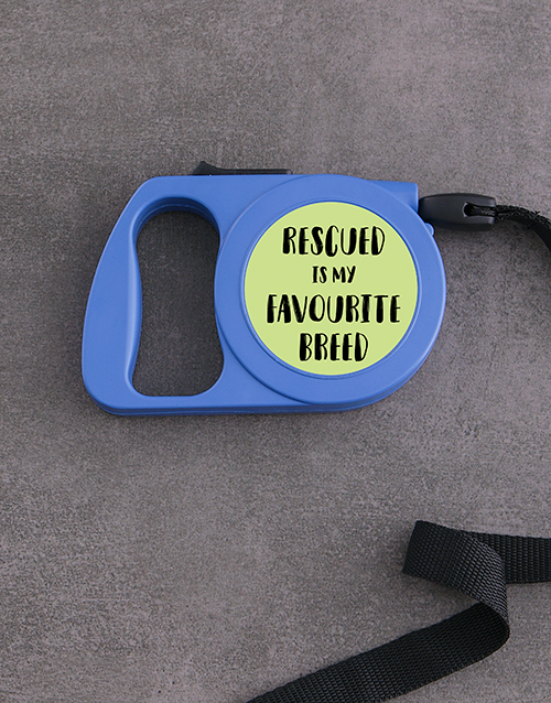 pets: Personalised Rescue Retractable Dog Leash!