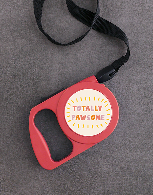 pets: Personalised Pawsome Retractable Dog Leash!