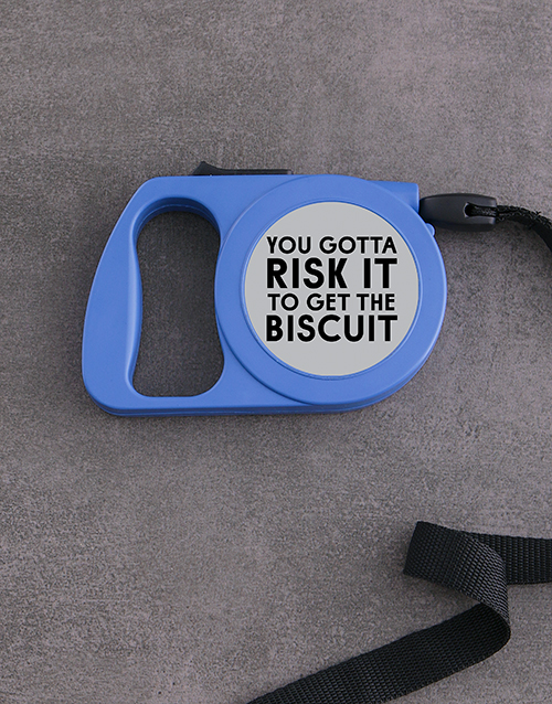 pets: Personalised Risk It Retractable Dog Leash!