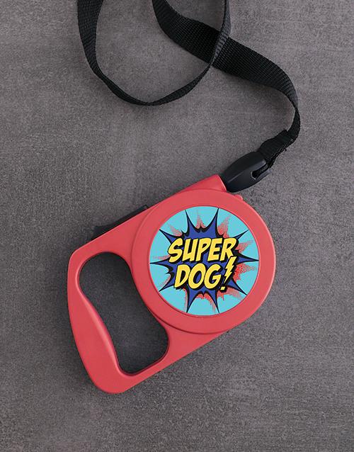 pets: Personalised Super Dog Retractable Dog Leash!