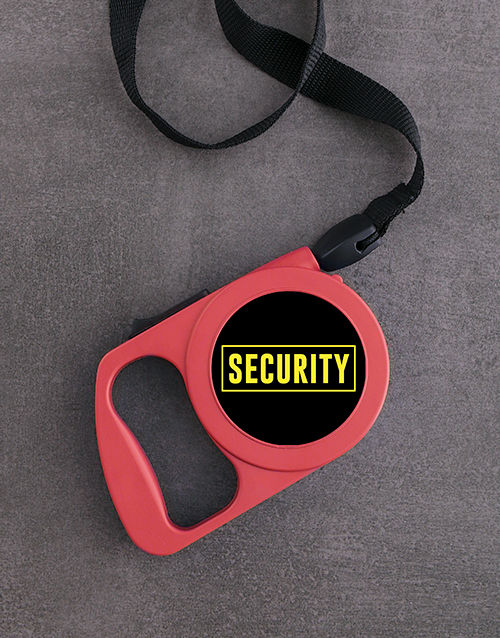pets: Personalised Security Retractable Dog Leash!