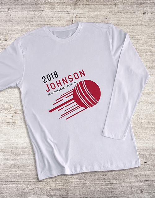 personalised: Personalised Surname Cricket Long Sleeve T Shirt!