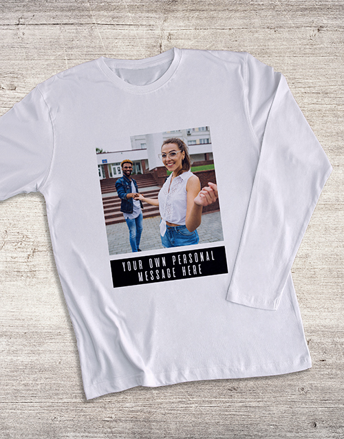 valentines-day: Personalised Photo Message Long Sleeve T Shirt!