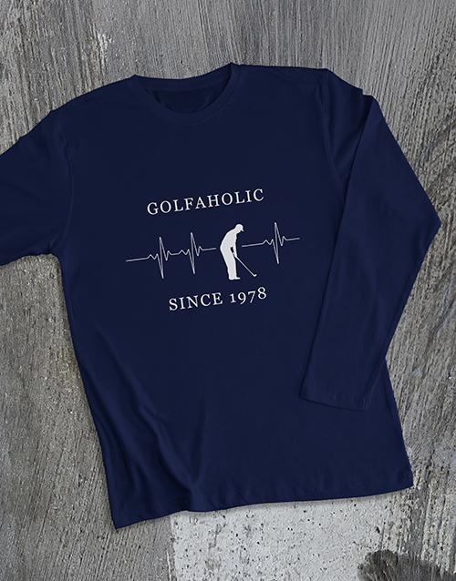 bosses-day: Personalised Golfaholic Long Sleeve T Shirt!