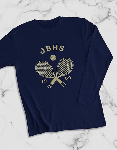personalised: Personalised Tennis Team Long Sleeve T Shirt!