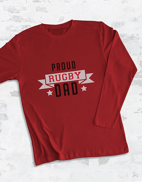 valentines-day: Personalised Proud Dad Long Sleeve T Shirt!