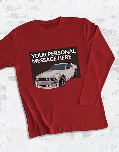 personalised: Personalised Racecar Long Sleeve T Shirt!