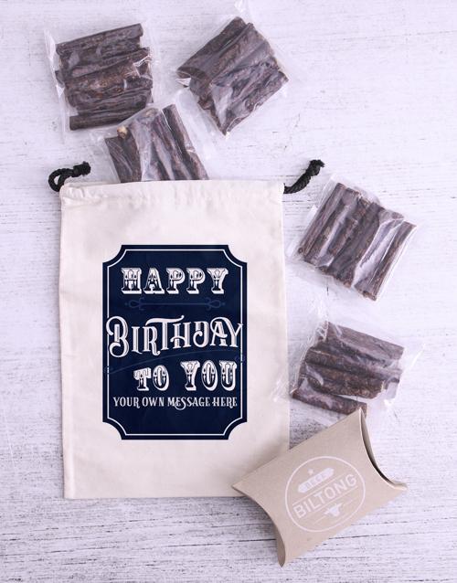birthday: Personalised Birthday Biltong Bag!