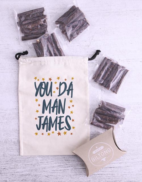 gourmet: Personalised The Man Biltong Bag!