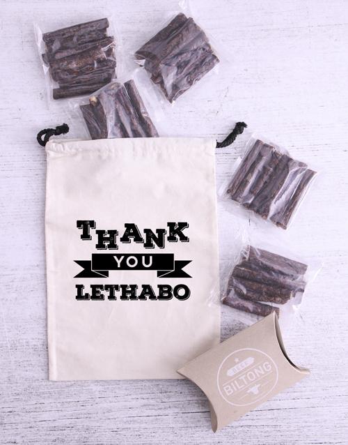 gourmet: Personalised Thank You Biltong Bag!