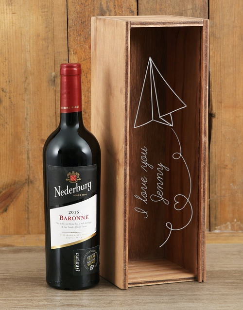 personalised: Personalised Paper Hearts Nederburg Crate!