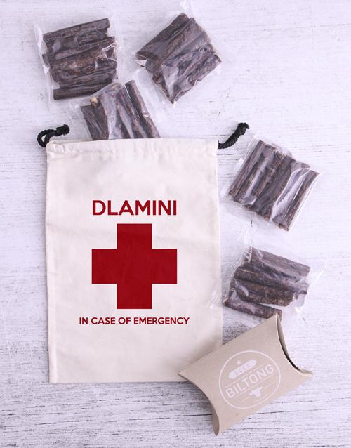 gourmet: Personalised Emergency Stash Biltong Bag!