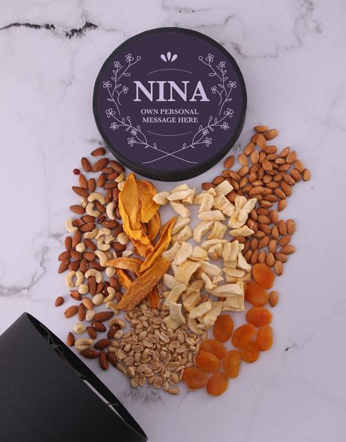 birthday: Personalised Elegant Fruit and Nut Hat Box!