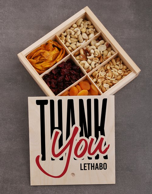 gourmet: Personalised Thank You Snack Crate!