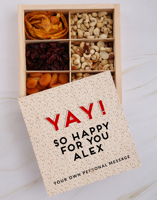 gourmet: Personalised Yay Happy Snack Crate!