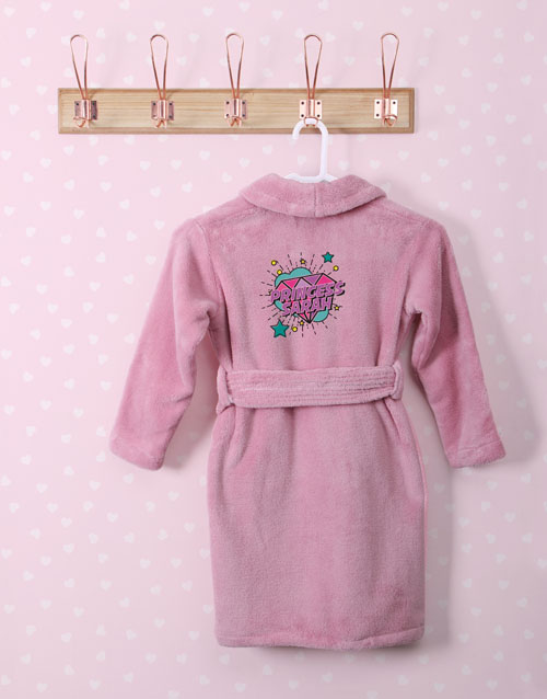 personalised: Personalised Princess Rocks Pink Fleece Kids Gown!