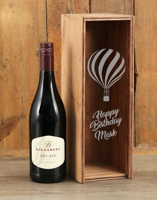 birthday: Personalised Birthday Backsberg Red Crate!
