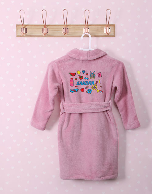 personalised: Personalised Girl Stuff Pink Fleece Kids Gown!
