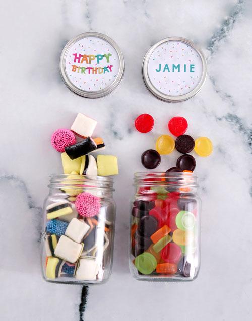 birthday: Personalised Birthday Mini Sweets Jars!