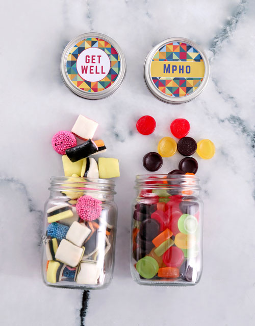candy-jars: Personalised Get Well Mini Sweets Jars!