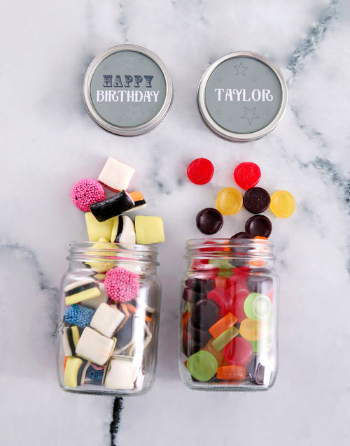 birthday: Personalised Happy Birthday Mini Sweets Jars!
