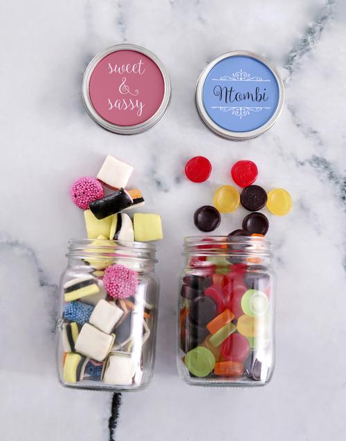 candy-jars: Personalised Sweet and Sassy Mini Sweets Jars!