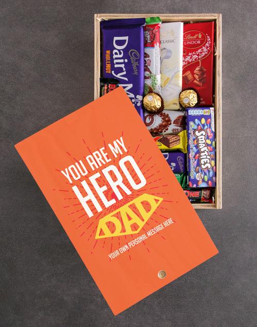 personalised: Personalised My Hero Chocolate Crate!