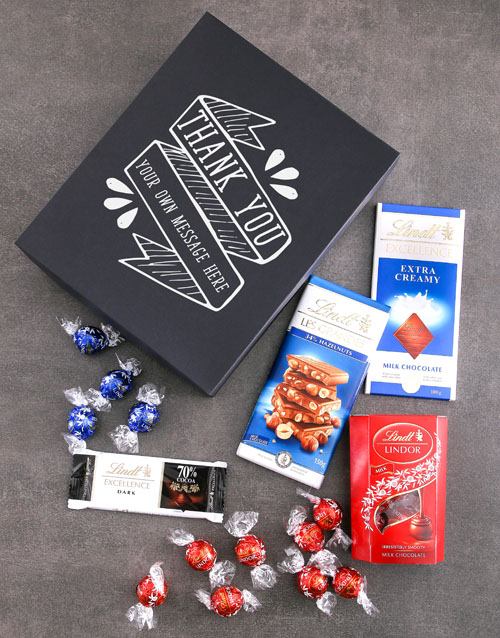 personalised: Personalised Thank You Lindt Box!