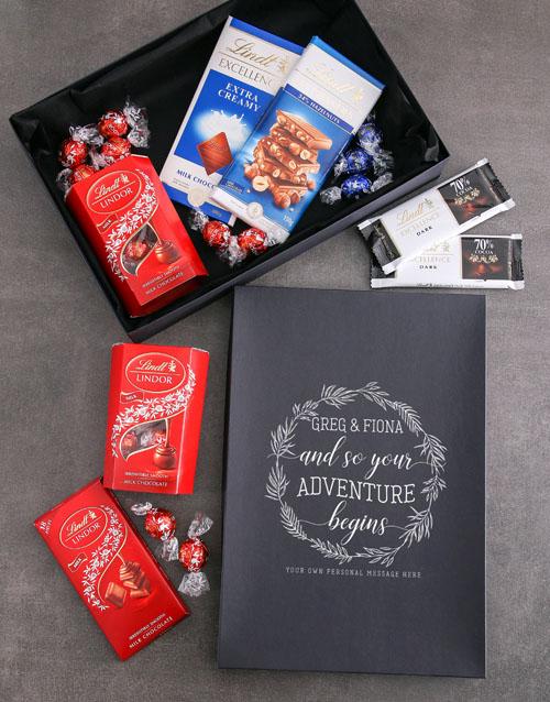 chocolate: Personalised Adventure Begins Lindt Box!