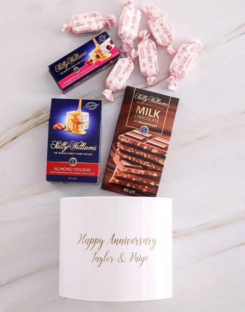 chocolate: Personalised Anniversary Nougat Box!