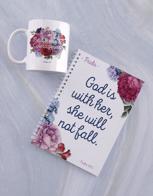 faith: Personalised Fearless Mug And Notebook!