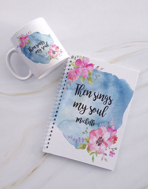 faith: Personalised Sings My Soul Mug And Notebook!