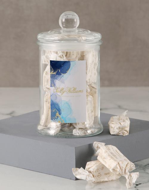 nougat: Sally Williams Blue Nougat Candy Jar!