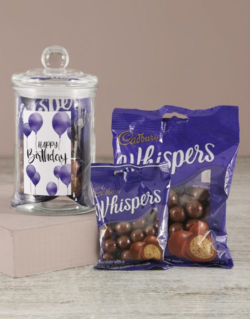 birthday: Happy Birthday Whispers Candy Jar!