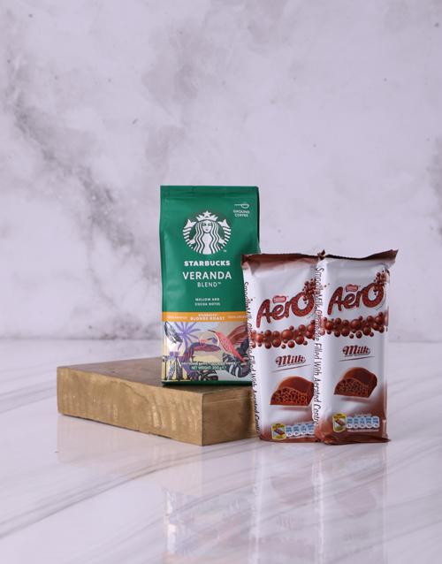 valentines-day: Starbucks and Aero Hamper!