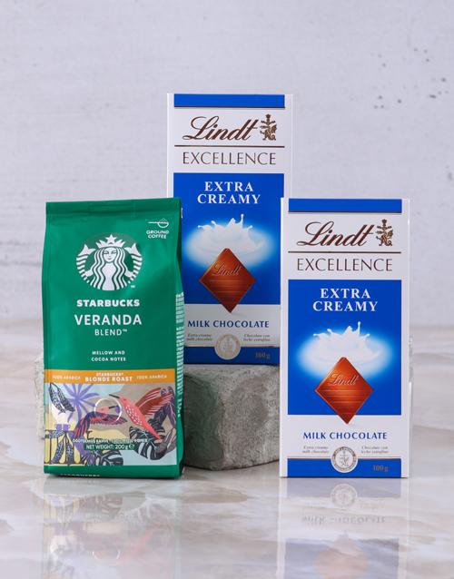 coffee-and-tea: Starbucks and Lindt Slab Hamper!