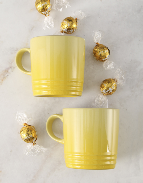 house-warming: Soleil Le Creuset Mugs and Chocolate!