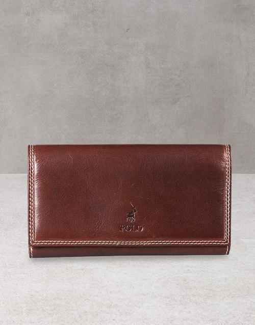 apparel: Polo Kenya Brown Pocket Wallet Gift!