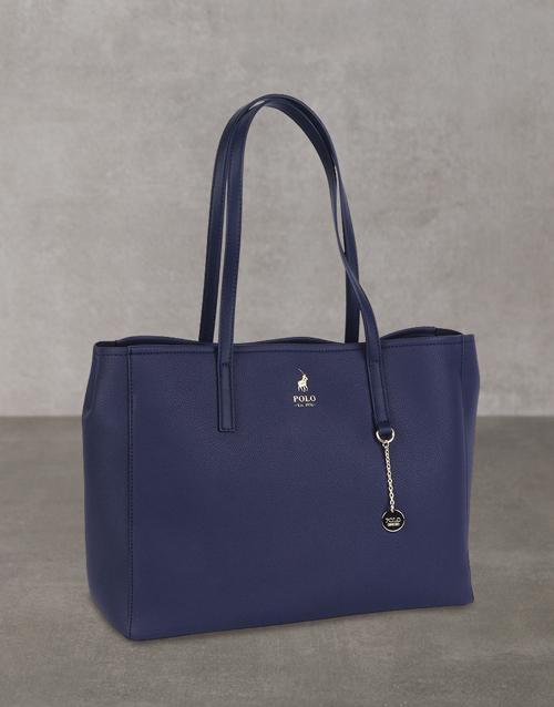 polo: Polo Lyone Pebble Navy Handbag Set!