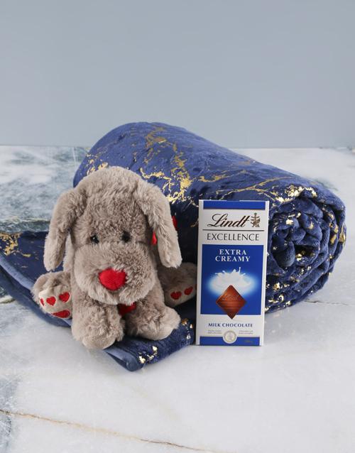 home-decor: Cuddle Love Dog Teddy And Blanket Set!