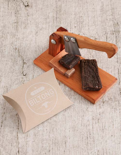 birthday: Small Biltong Cutter with Biltong Gift!